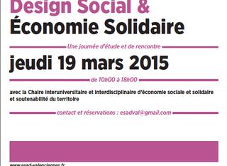 Journée d'étude et de rencontre Design social et économie solidaire
