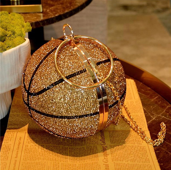 Bling Basketball Clutch/Chained Purse