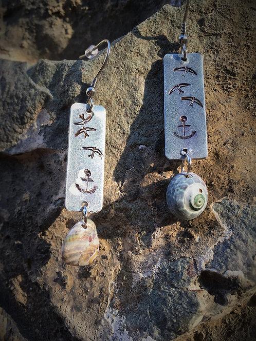 Nerezové náušnice Stamped Jewelry