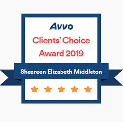 AVVO_Client's Choice award 2019 badge