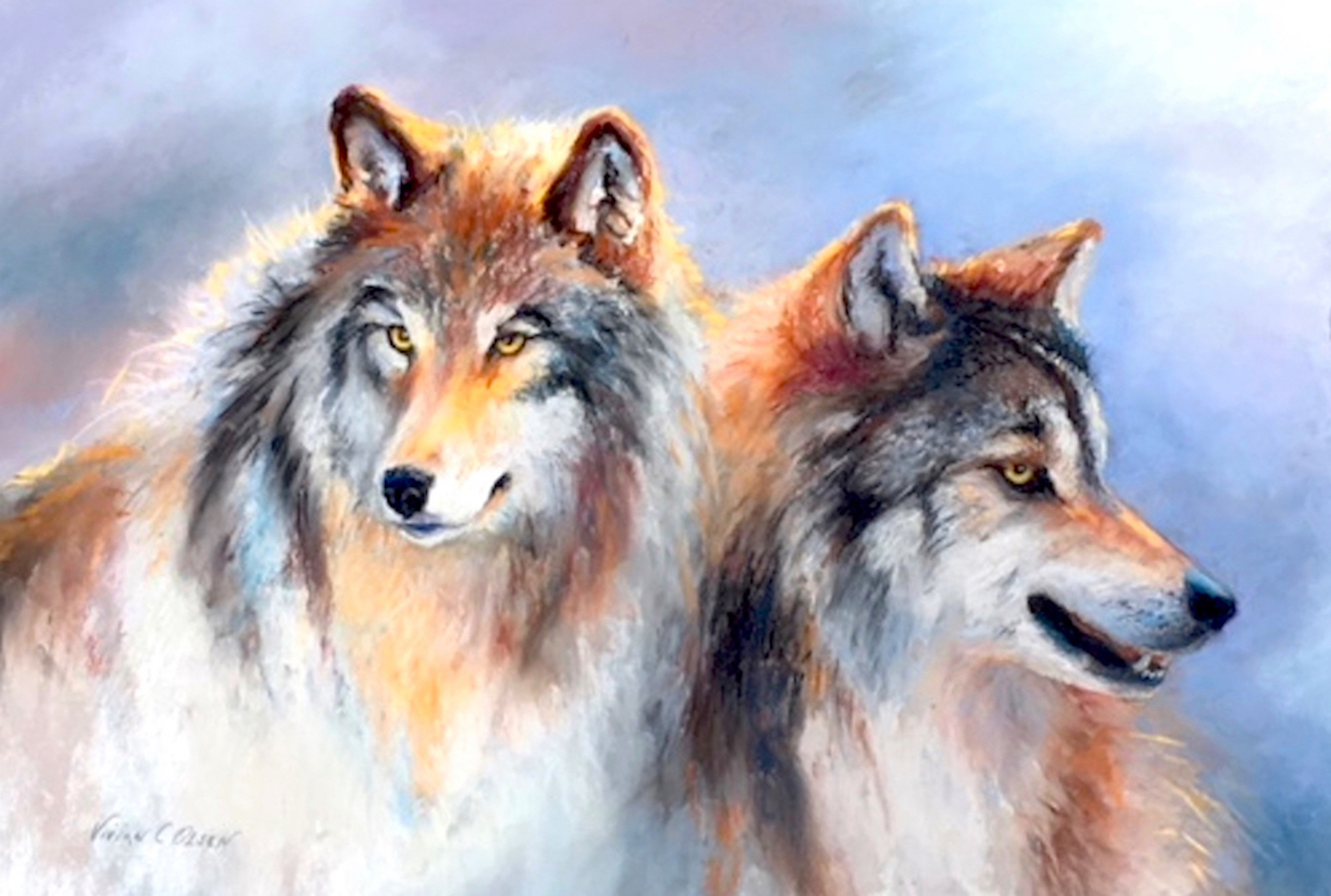 Timber Wolves   Pastel