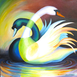 Mirror Pond Swans
