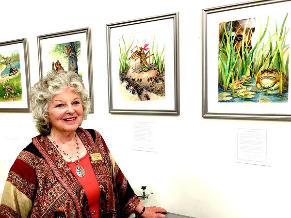 Vivian Olsen shows her illustrations