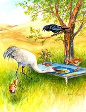 Cranes & the Raven