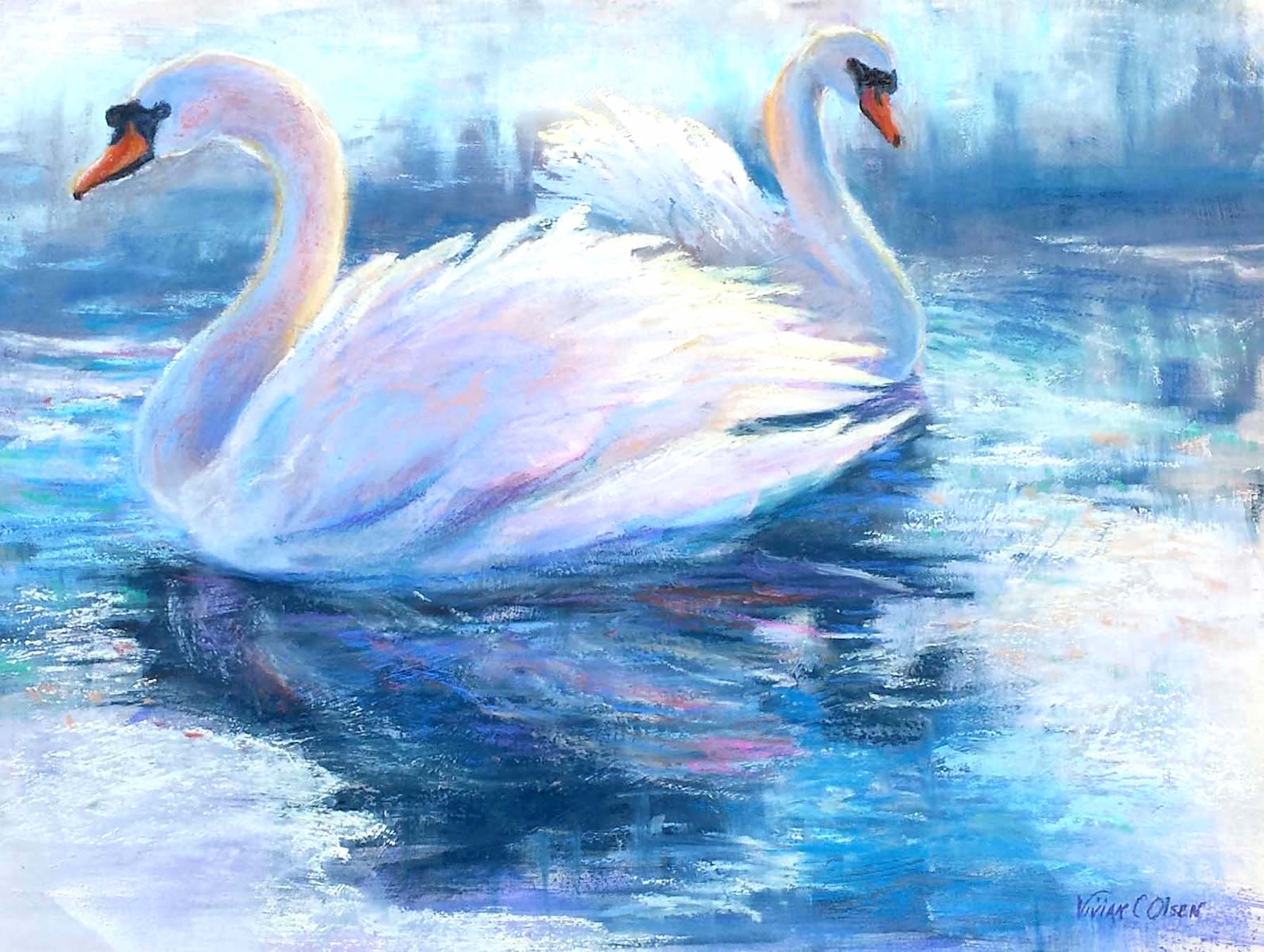 """Swans in Ice"""