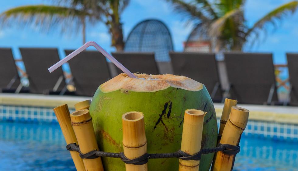 Água de coco fresquinha