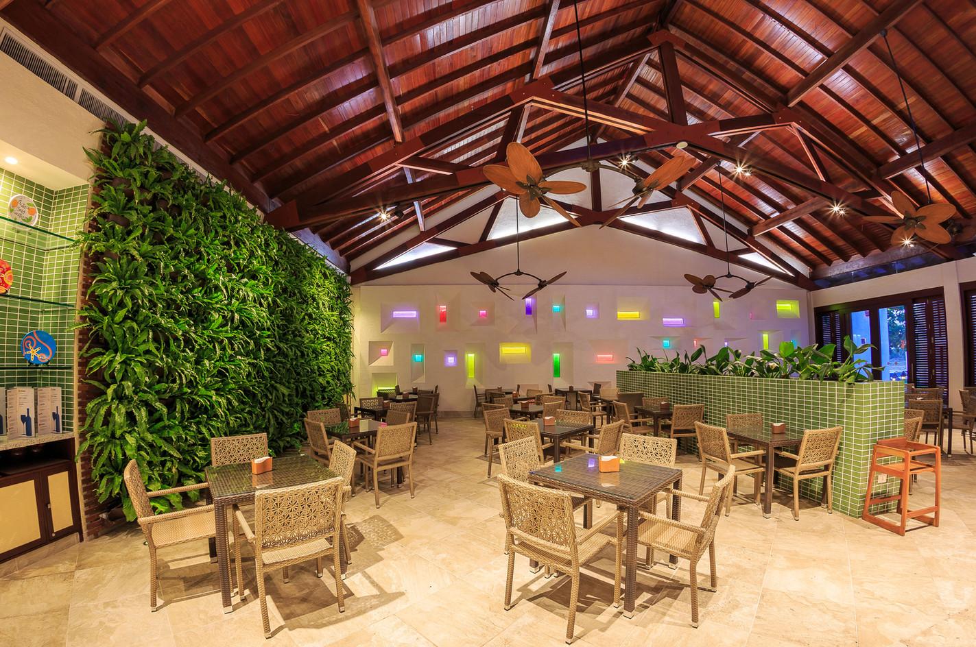 A maior capacidade para um restaurante de praia.