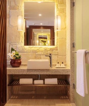 Banheiro decorado Suite master