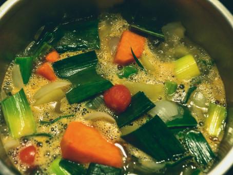 Reduce Waste Recipes: Fridge Soup