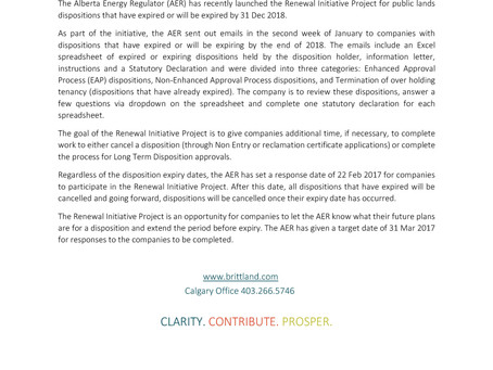 AER Renewal Initiative Project