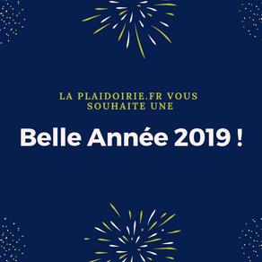 La Plaidoirie.fr vous souhaite une belle année 2019 !