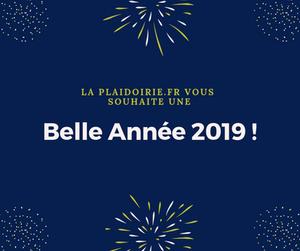 La  Plaidoirie.fr vous souhaite une belle année 2019 - Meilleurs Vœux