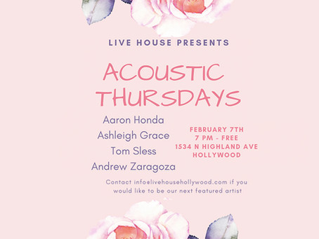 Acoustic Thursdays Feb. 7