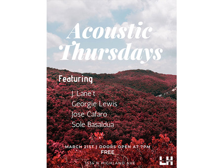 ACOUSTIC THURSDAYS MARCH 21TH