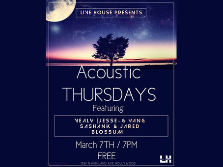 ACOUSTIC THURSDAYS MARCH 7TH