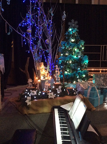 Décor du concert de Noël 2015 à St-Roch-de-l'Achigan