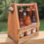 DIY Wood Beverage Caddy great fun bachelor party idea in Peoria or groomsmen gift