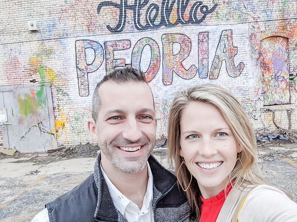 Cliff & Jodie Vieira - owners of Crafted DIY Studio & Bar, Peoria, IL