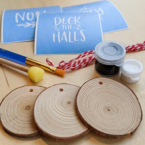 Wood Slice Ornaments Kit