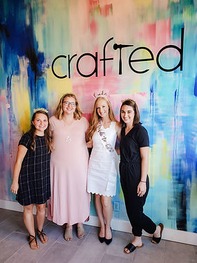 Bachelorette Party at Crafted DIY Studio & Bar