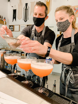 Craftenders making cocktails