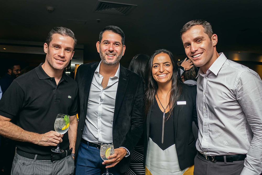 Júlio e Gustavo Serafim; Lia Delmonte, da Tivoli Hotels & Resorts, e Marcos Vinicius