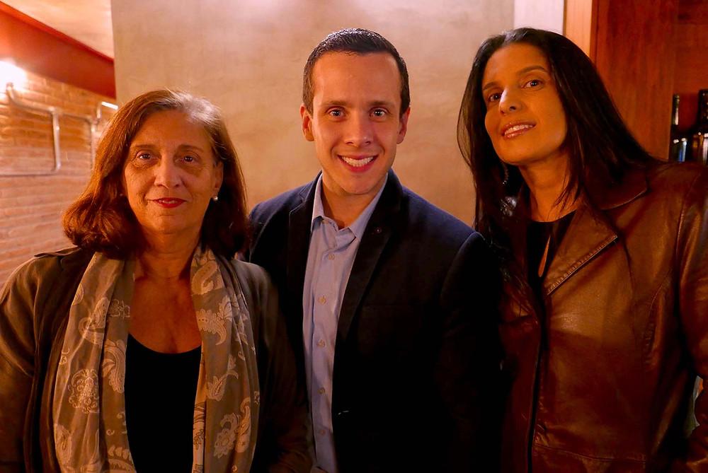 Ana Maria Queiroga, da Van Holland, Stefano Parziale e Ana Cristina Brant