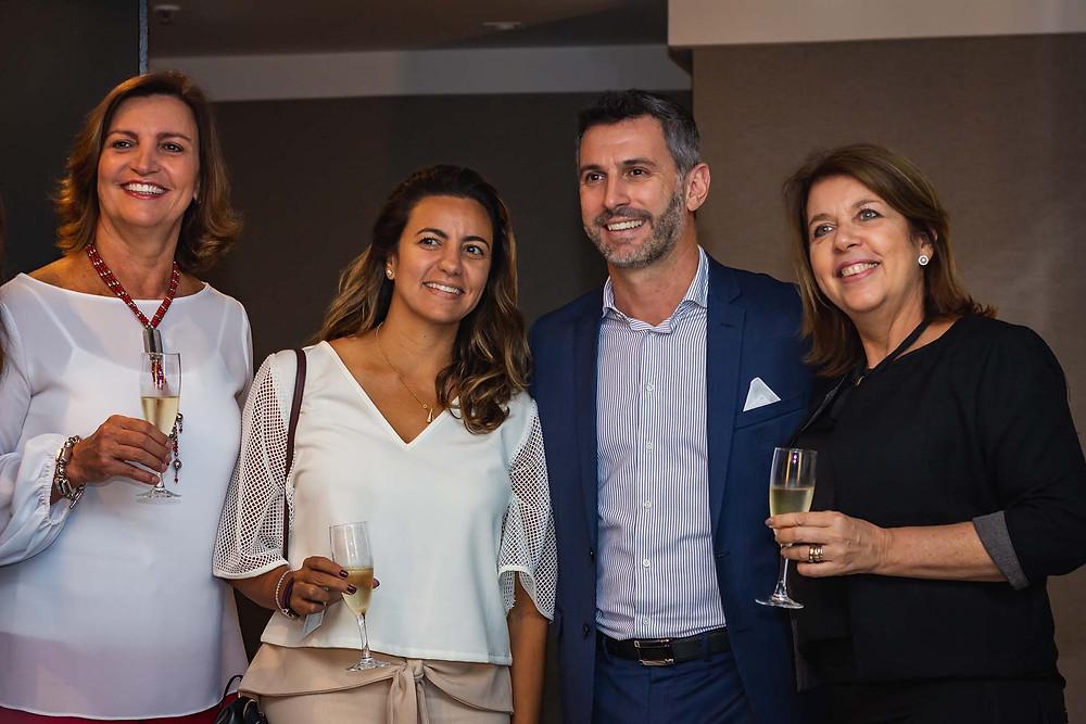 Juliana Schawartzmann, da Costa Brava Turismo; Juliana Honegger, da Embarque; Cristian Bernardi, e Sheila Aizenstein