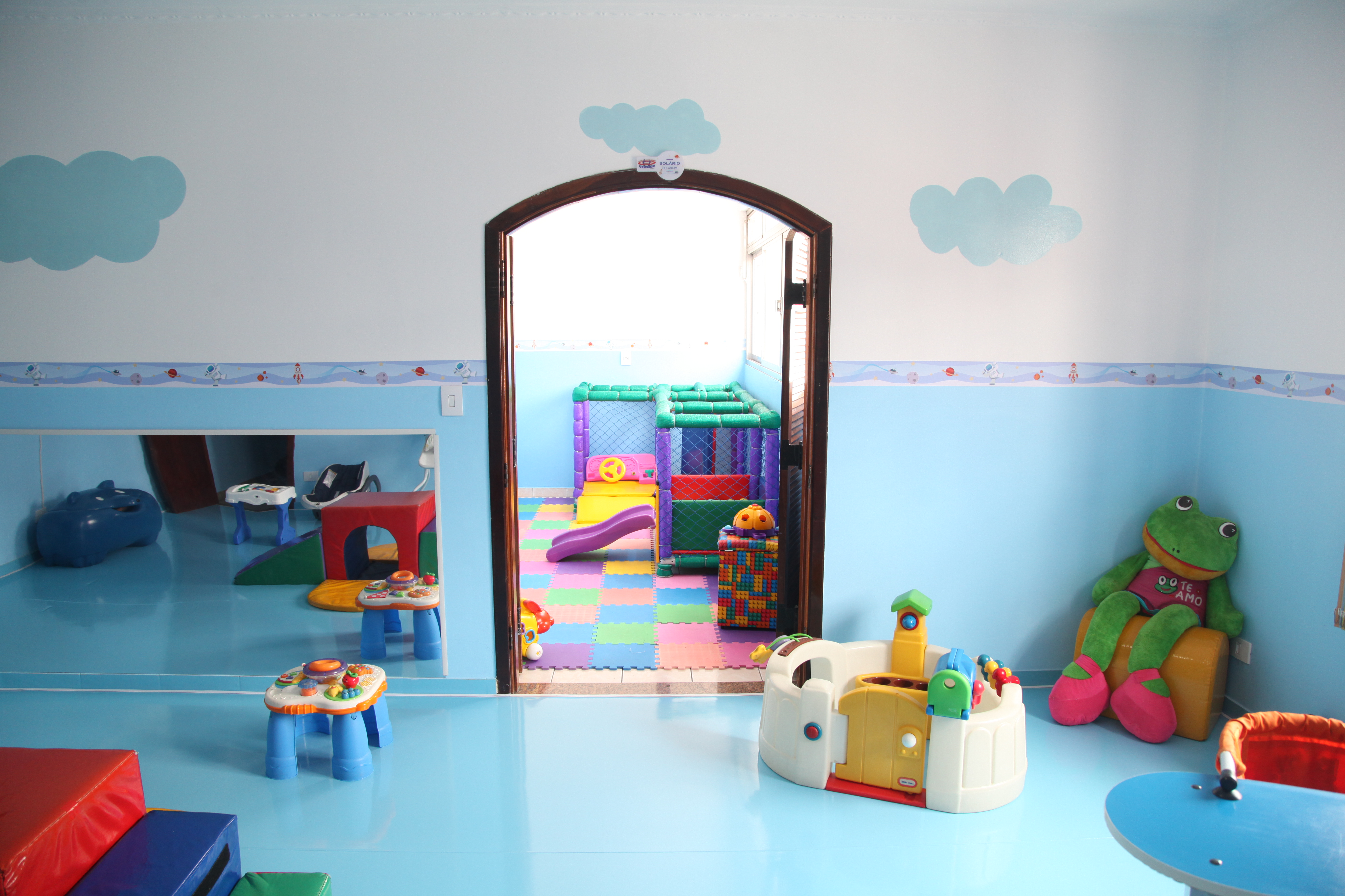 Sala de estimulação para bebês