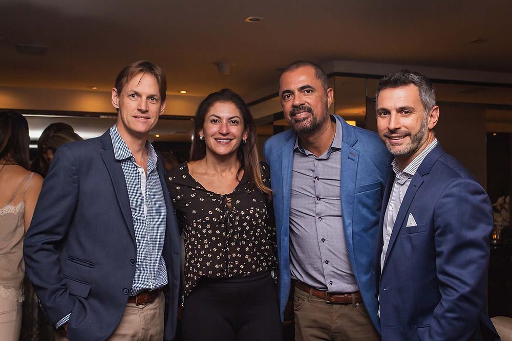 Bob Betenson, da Matueté; Claudia Dibo, da Claudia Dibo Personal Travel; Marco Moura, e Cristian Bernardi