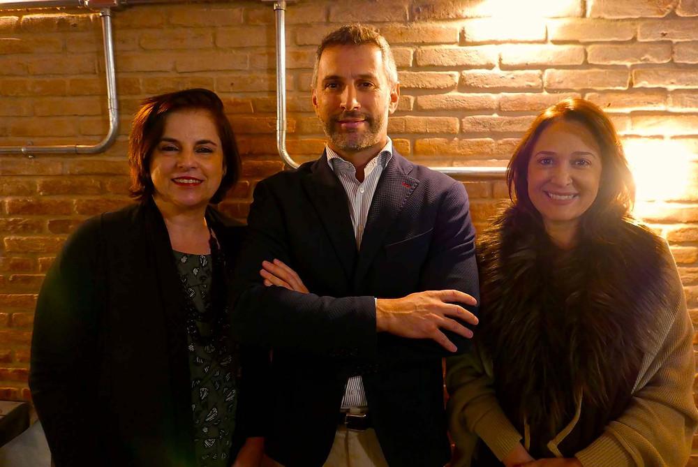 Angela Bittar, da Bittar Turismo & Viagens; Cristian Bernardi, e Renata Azevedo, da Speed System