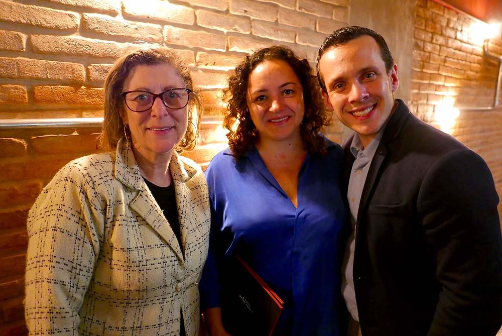 Maria José Pinto, da Volée; Suzana Dias, da Get It, e Stefano Parziale
