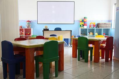 Salas de aula adaptadas por níveis