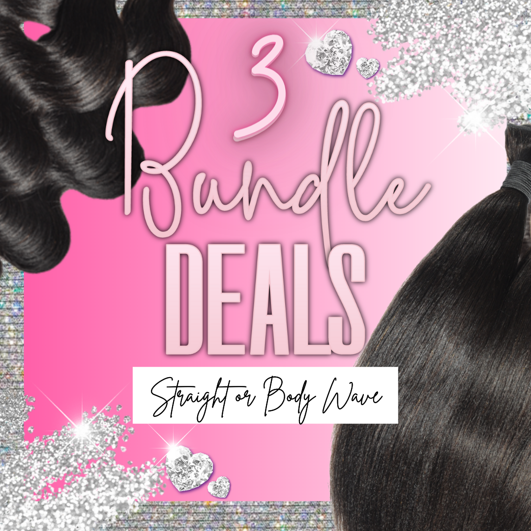 Straight or Body Wave 3Bundle Deals