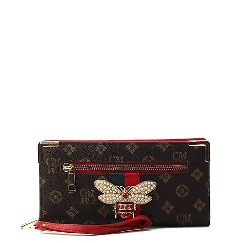 Bee a Queen Collection 2 (Red)Wristlet Wallet