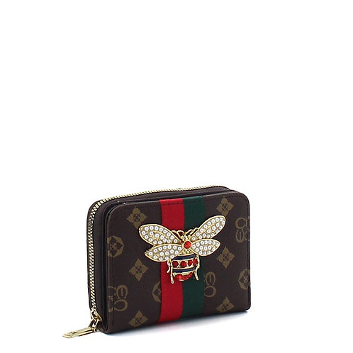 Bee a Queen Collection 3 (Brown)Card Wallet