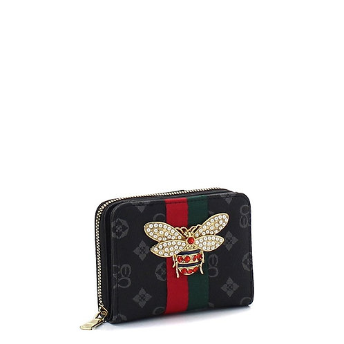 Bee a Queen Collection 3 (Black)Card Wallet