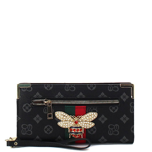 Bee a Queen Collection 2 (Black)Wristlet Wallet