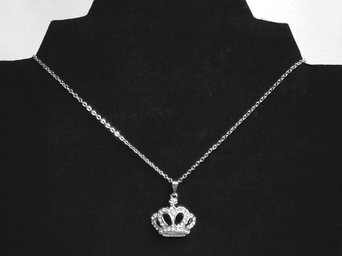 Crown Me Necklace in Silver