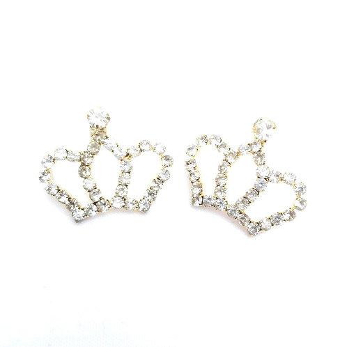 Crown Me Earrings in Gold