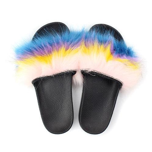 """Fuzzy Slides """"White, Yellow, Lavender, Blue"""""""