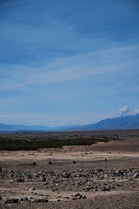 Motards de la Death Valley