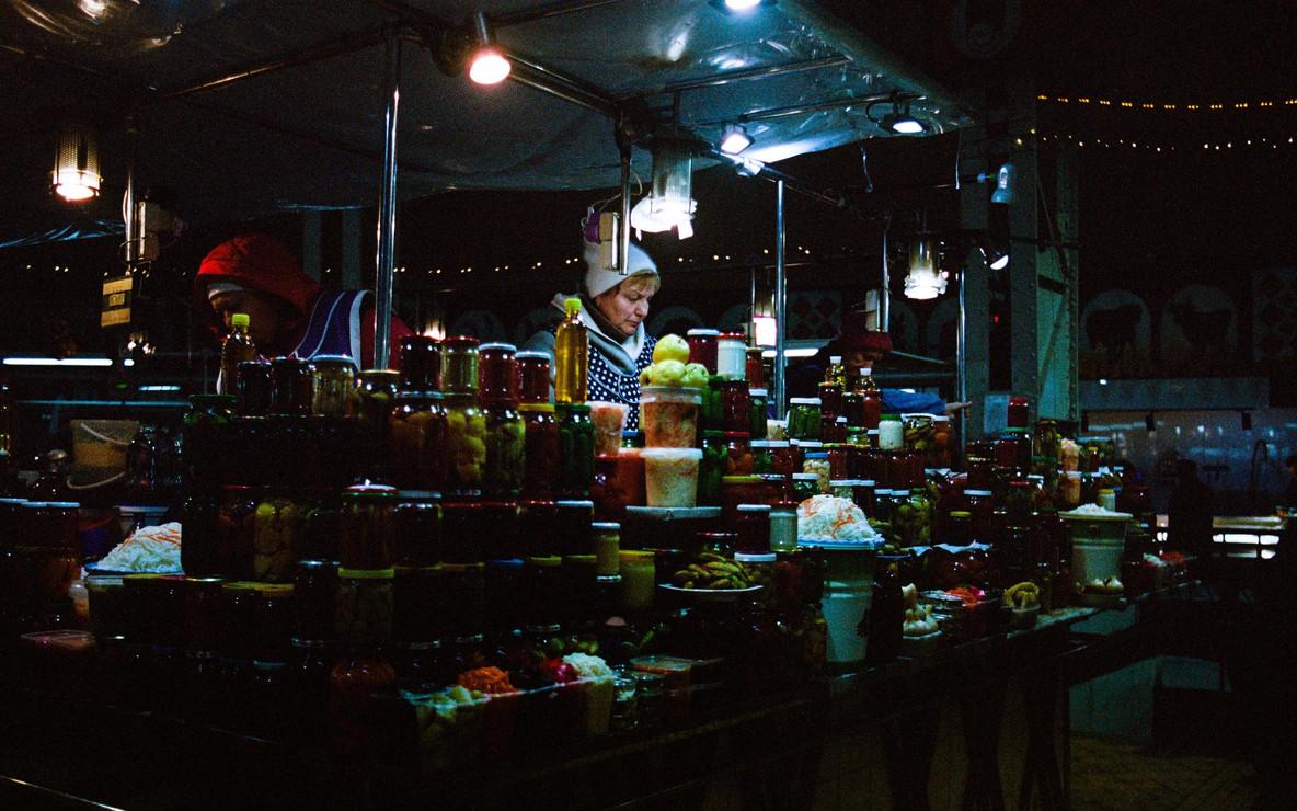 Étalage du Bessarabsky Market