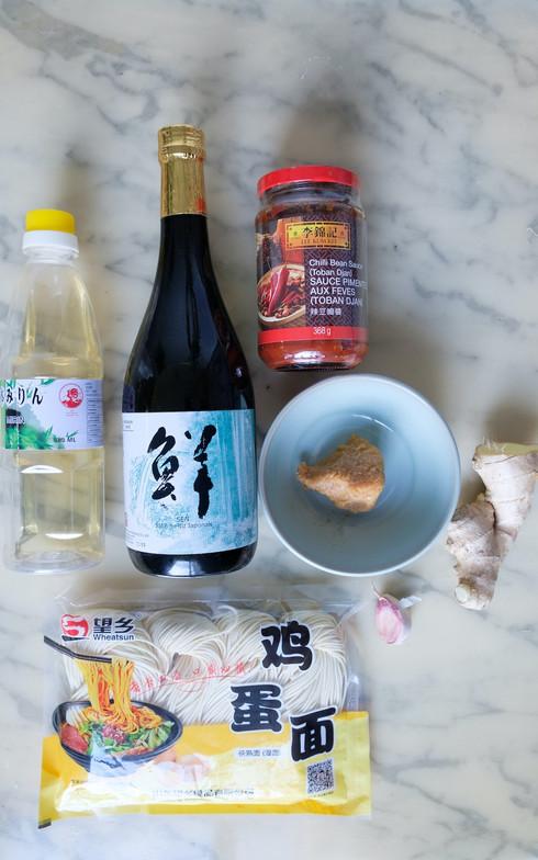 Ingrédients pour la sauce miso