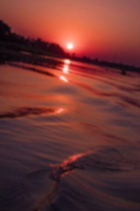 croisière sur le fleuve magdalena de Mompox, coucher de soleil.