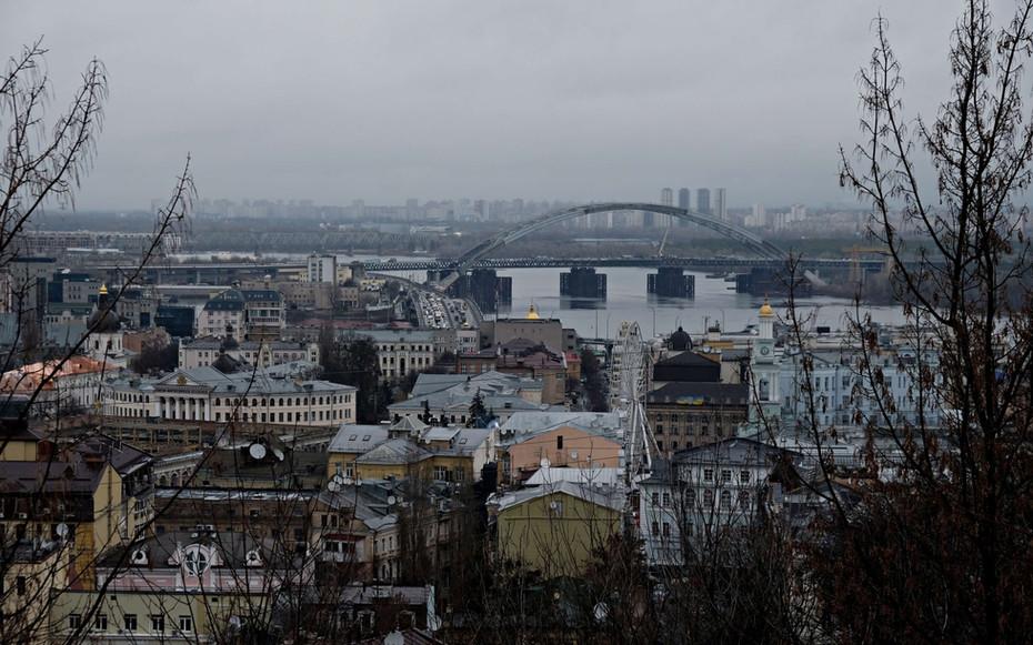 Point de vue dans le centre de Kiev