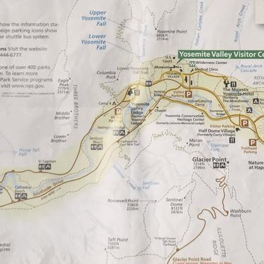 Routes et randonnées de Yosemite