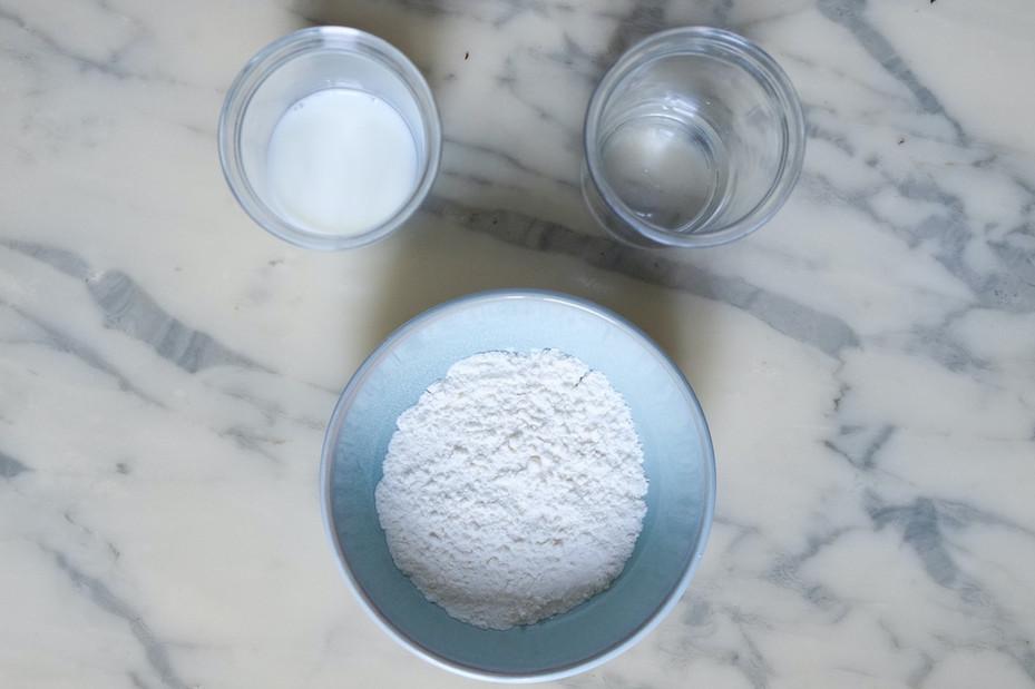 Ingrédients tangzhong