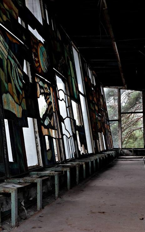 Salle abandonnée à Pripyat
