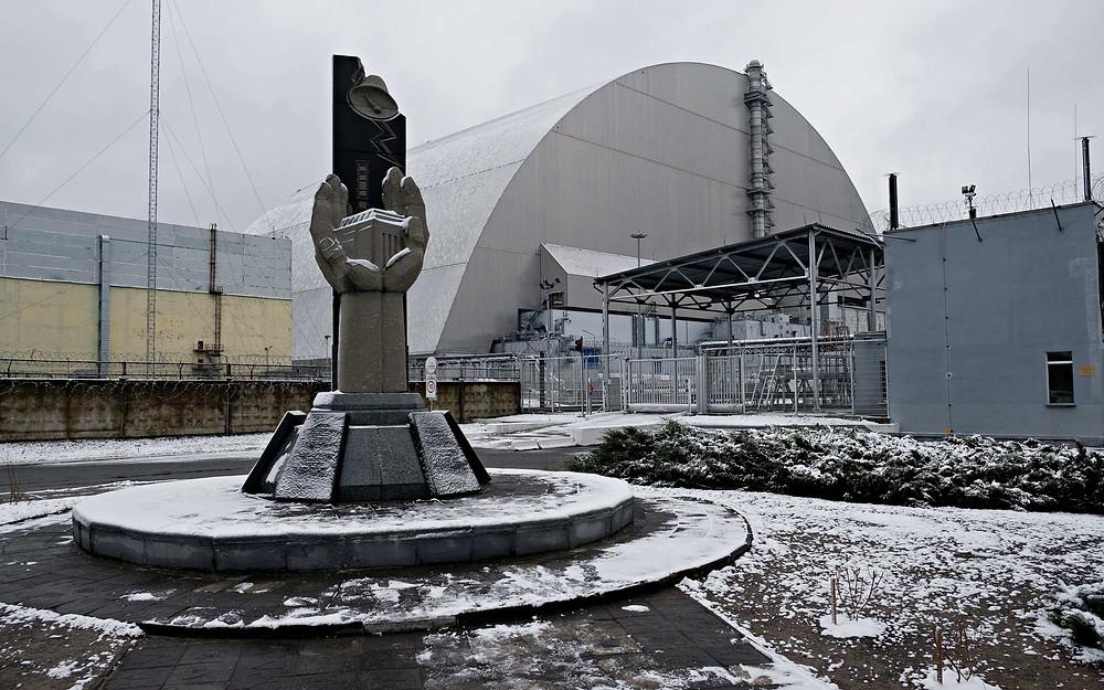 sarcophage de la centrale nucléaire de Tchernobyl